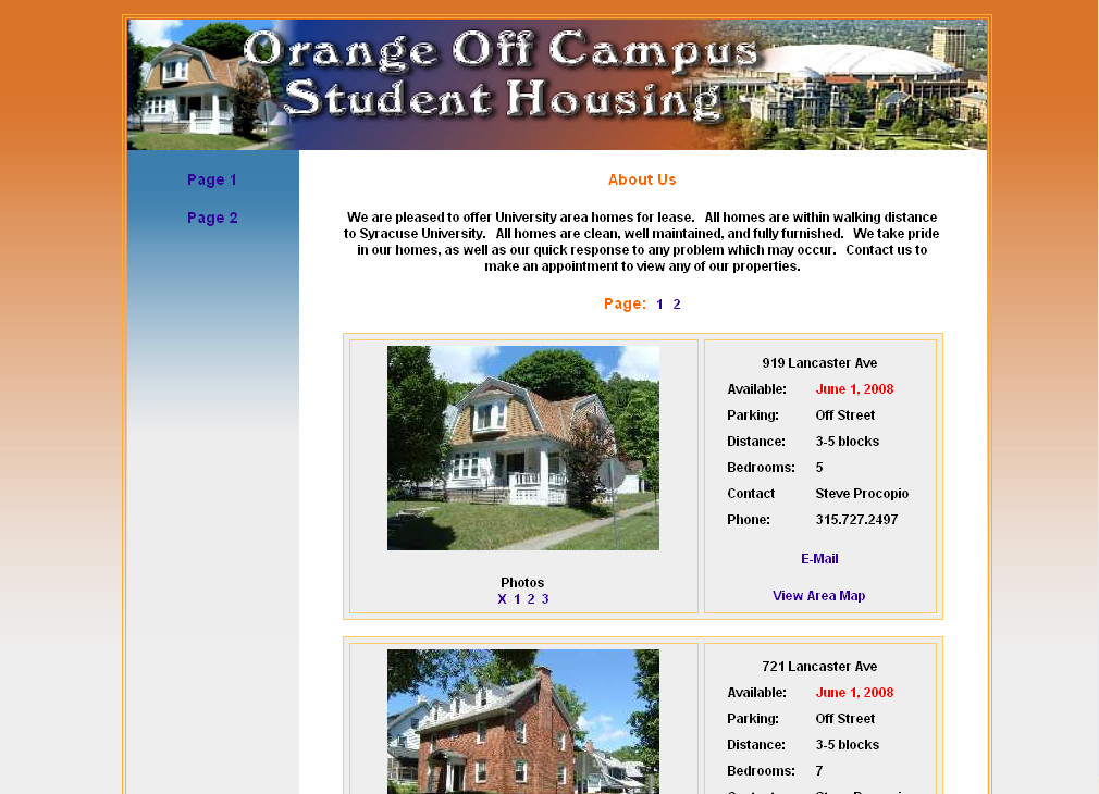 Orange Off Campus Housing
